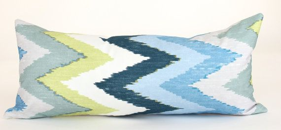 DESCRIPTION:     Schumacher Adras Ikat Pillow Cover in Sky   Designer: Martyn Lawrence-Bullard     Made to Order     This Listing is for one