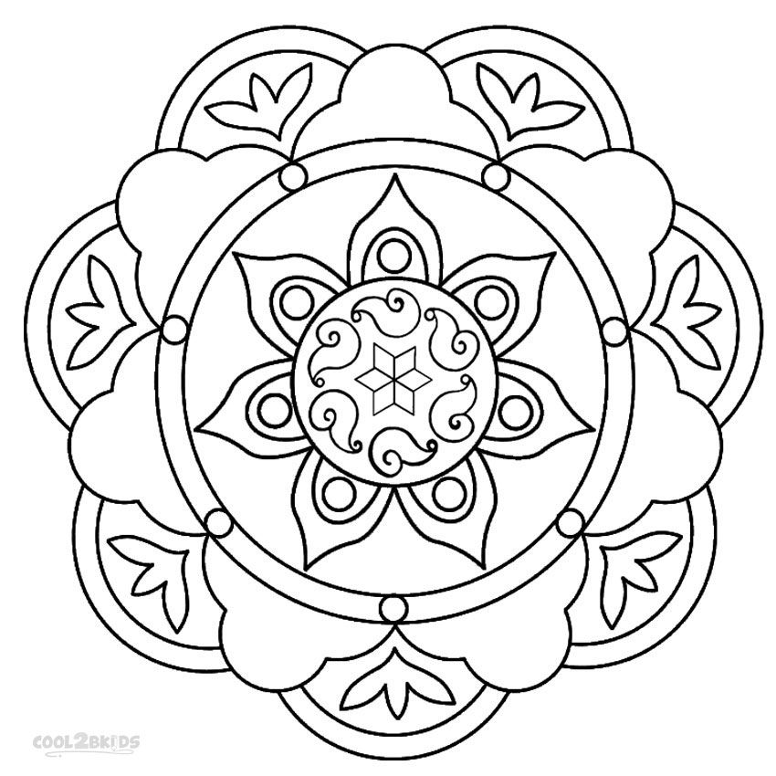 Printable Rangoli Coloring Pages For Kids Cool2bKids mandalas