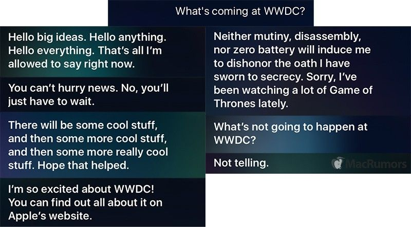 Siri Offers Witty Responses to Users Asking About WWDC