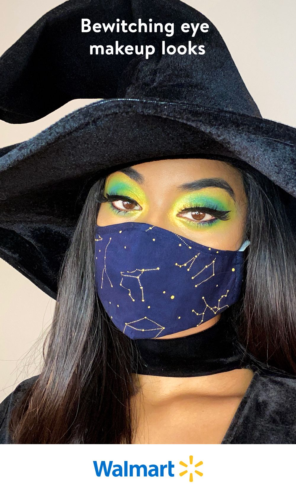 Have fun with eye makeup this Halloween! Walmart's beauty shop has everything you need for mask-friendly makeup looks that are sultry, scary, or sweet.
