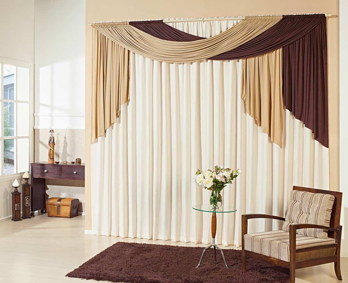 Cortinas para sala 18 modelos simples e modernas drapes for Cortinas de living