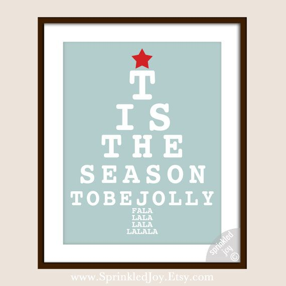 Christmas Eye Chart Tis The Season To Be Jolly Choose Your Own