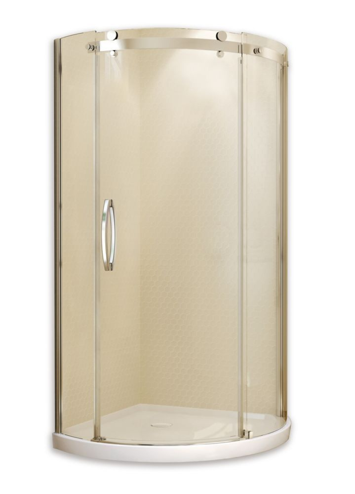 Olympia Corner Fit 36 Inch X 36 Inch X 77 1 2 Inch Round Shower
