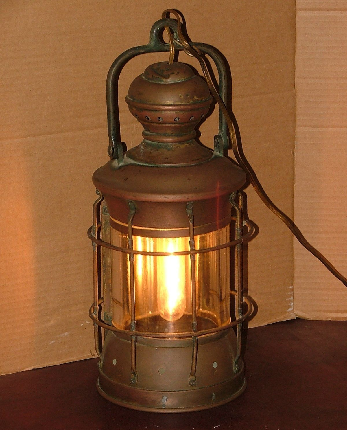 Details About Copper Ships Marine Lantern Light Electric