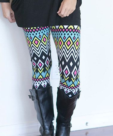 This Turquoise Diamond Leggings - Women is perfect! #zulilyfinds