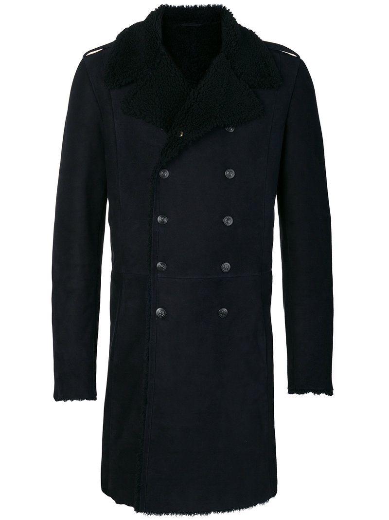 afcb8af3 PIERRE BALMAIN PIERRE BALMAIN - SHEARLING LINED DOUBLE BREASTED COAT . # pierrebalmain #cloth #