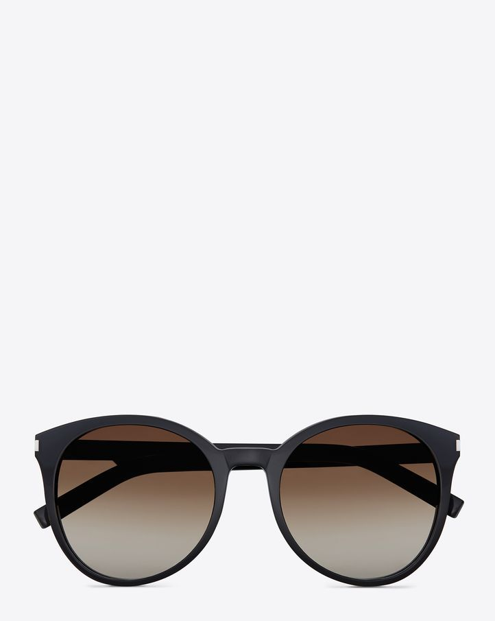 229785f02e7e3 Saint Laurent Classic 6 Sunglasses In Black Acetate With Brown Gradient  Lenses
