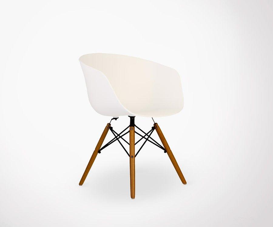 Fauteuil design scandinave élégant et confortable style chaise DAW ...