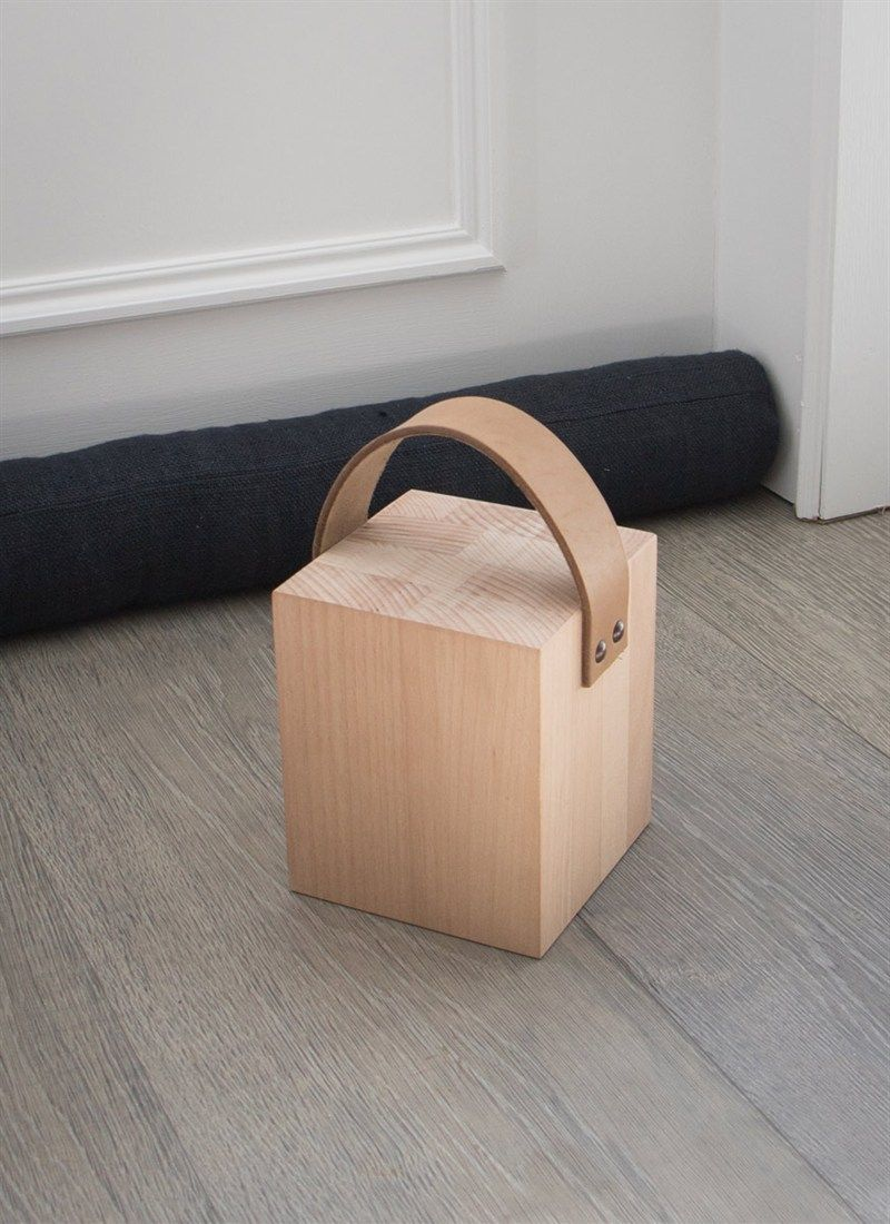 Keep Any Door Propped Open In Style With The Kelston Door Stop With Leather Strap Wooden Door Stops Leather Decor Home Accessories