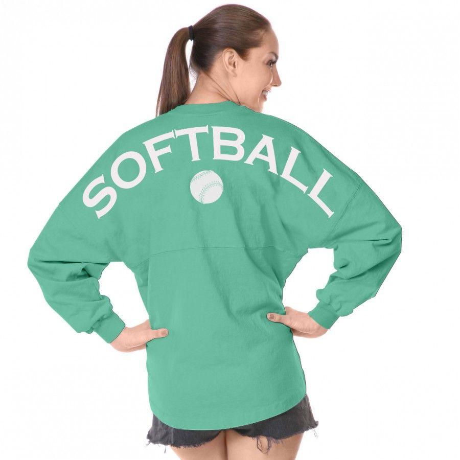 Softball - Classic Unisex Long Sleeve, Crew Neck Spirit Jersey ...
