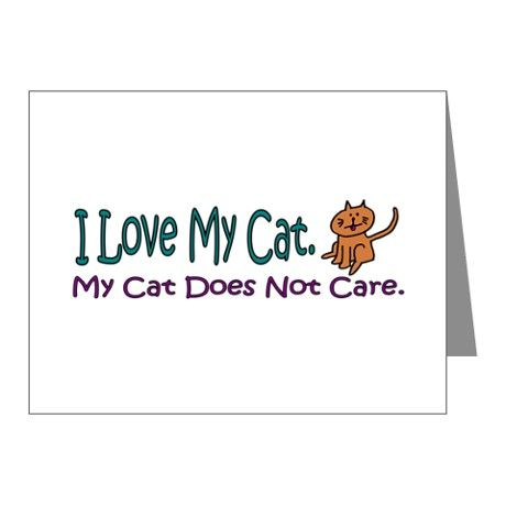 We've all been there right? How do you get your cat to care about all the attention you're lavishing on her? - Gift Ideas For Cat Lovers (CafePress.com)