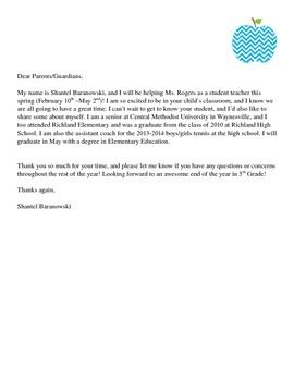 about yourself, sample elementary, parents template, parents day care, new parents, for parents, on teacher introduction letter to parents template