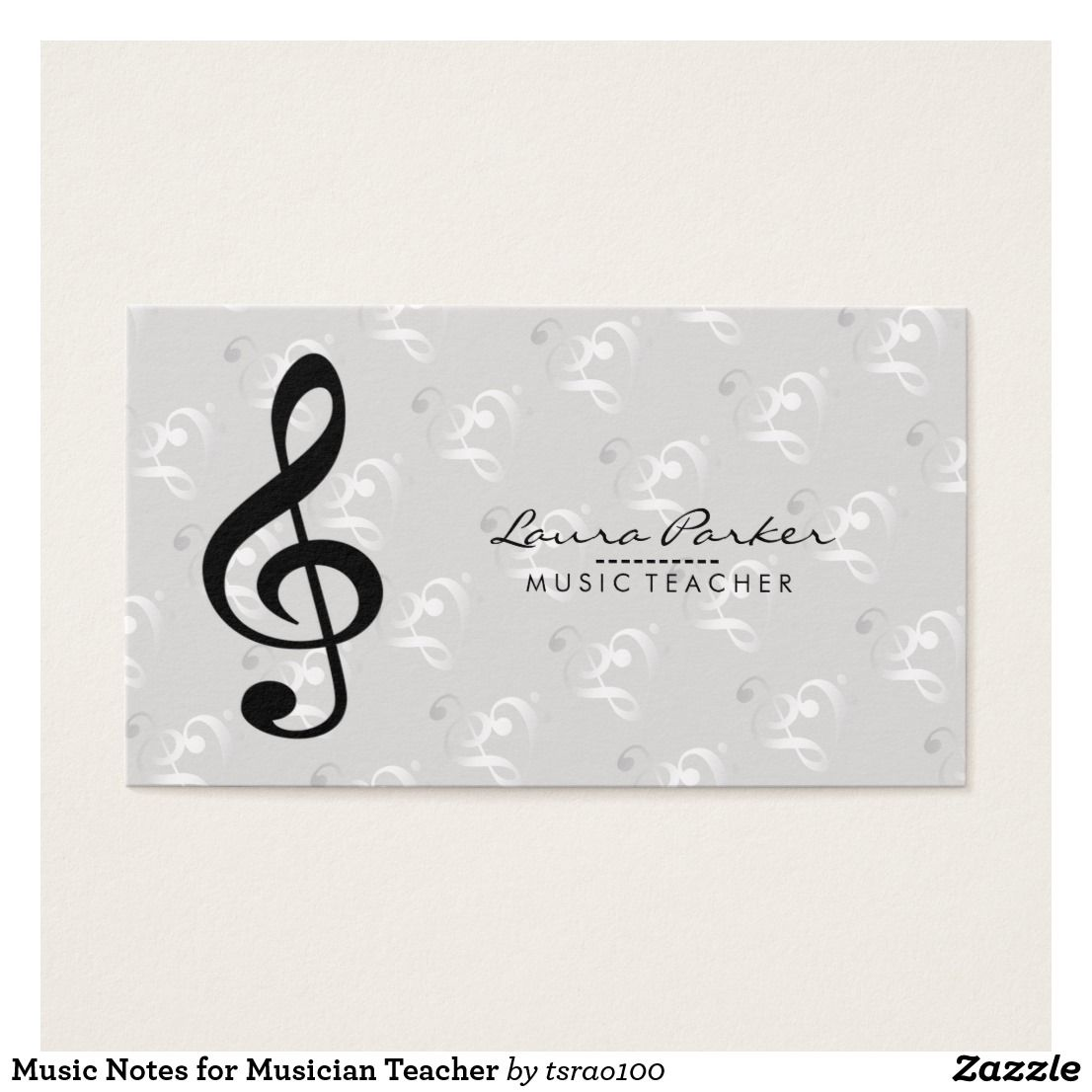 Music Notes for Musician Teacher | Music Business Card for Music ...