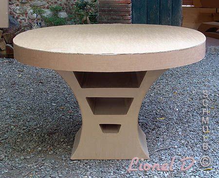 grande table en carton | Картон | pinterest | carton, meuble