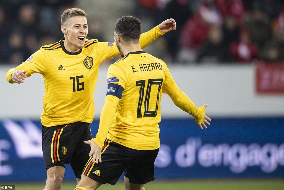 Haris Seferovic Hits Hat Trick As Switzerland Top Nations League Group Thorgan Hazard Eden Hazard Hazard