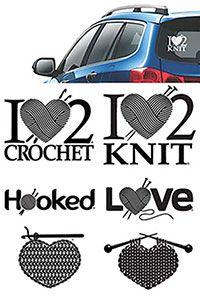I Heart 2 Crochet Decal from CrochetandKnitShop.com