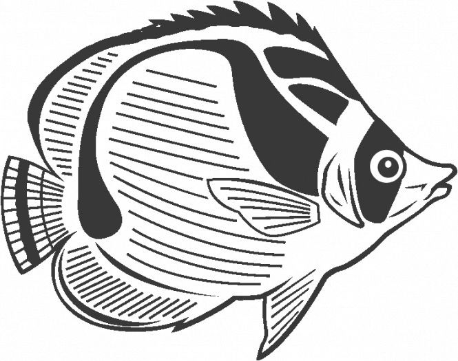 Butterfly Fish Coloring Pages Coloring Coloring Pages Fish