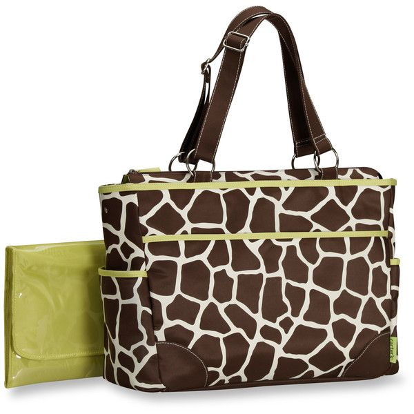 Giraffe Tote Diaper Bag baby neutral ❤ liked on Polyvore