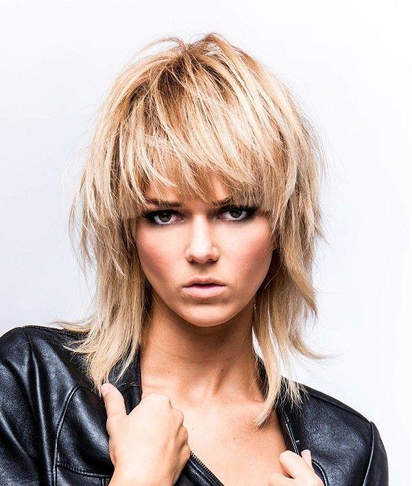 Further Long Mullet Hairstyles Women Moreover Rocker Hairstyles Frisuren
