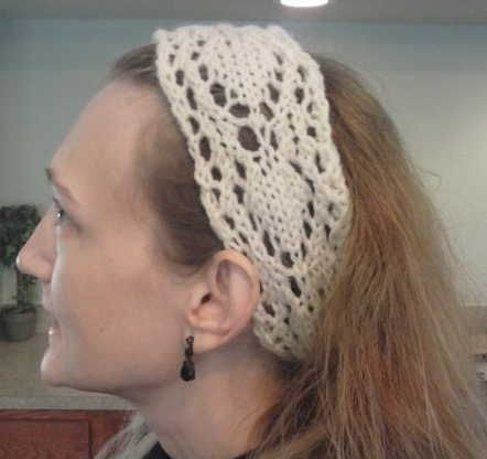 Free Pattern This Arrow Head Lace Headband Is A Fast Knit And A