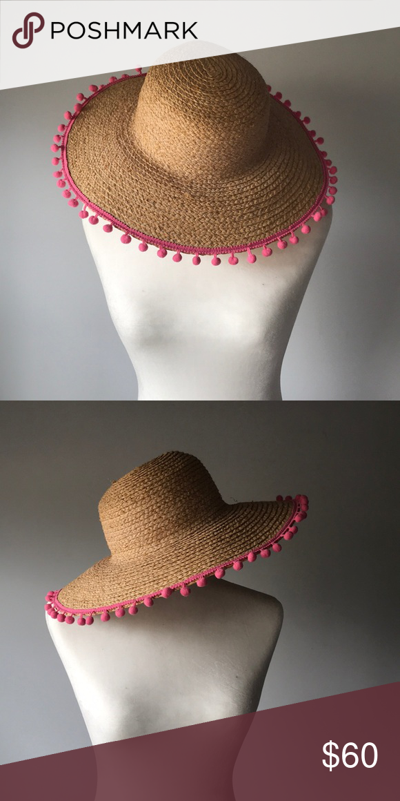 4c9a6ed49 NWT!!! Hat Attack Beach Hat Hat Attack sun protection hat with pink ...