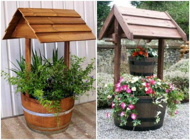 Diy Tire Wishing Well Planters Fab Art Diy Wishing Well Garden