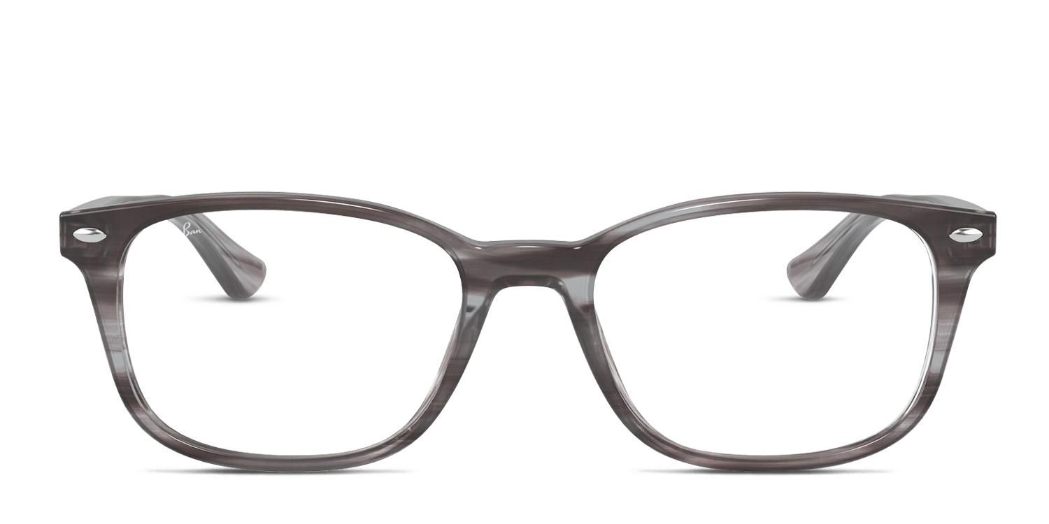 Ray-Ban RX5375 Gray/Multicolor Rectangle Designer Glasses - Price includes high quality frames, standard prescription lenses, shipping, free case and cloth. Large Multicolor , Gray Full Frame Plastic Designer Glasses. These Rectangle shaped Designer Glasses are great for Oval , Round shaped faces. Look great in your stylish Designer Glasses. Only $183 - includes shipping!