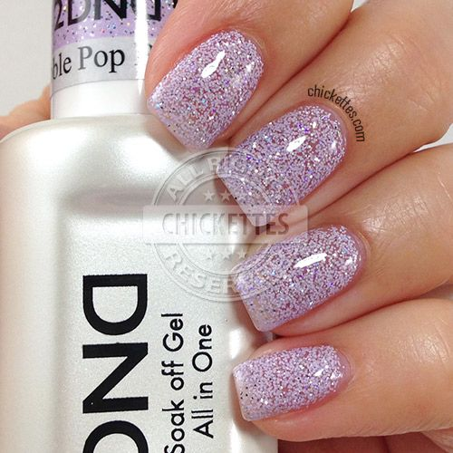 Daisy Duo Soak Off Gel Nail Color Bubble Pop Various Purple White Matte Blue And Sparkle Tiny Glitter Size Comes With A Free Lacquer In