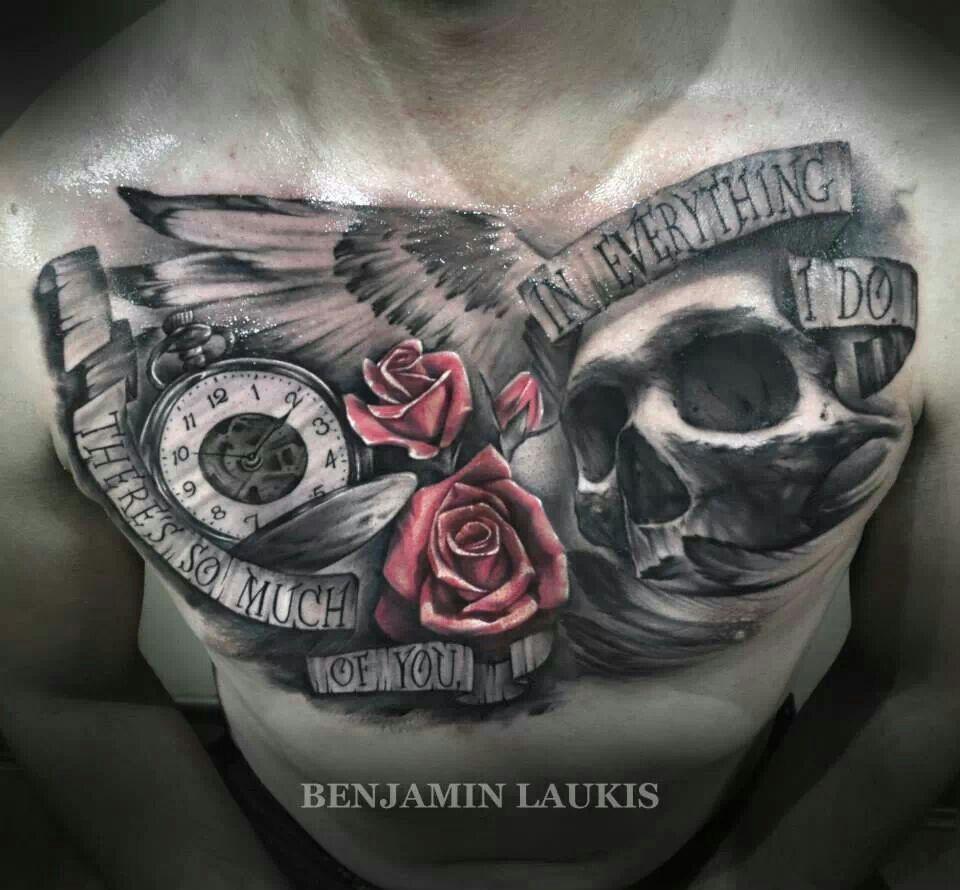 Skull Rose Clock, My Next Chest Tattoo ;)