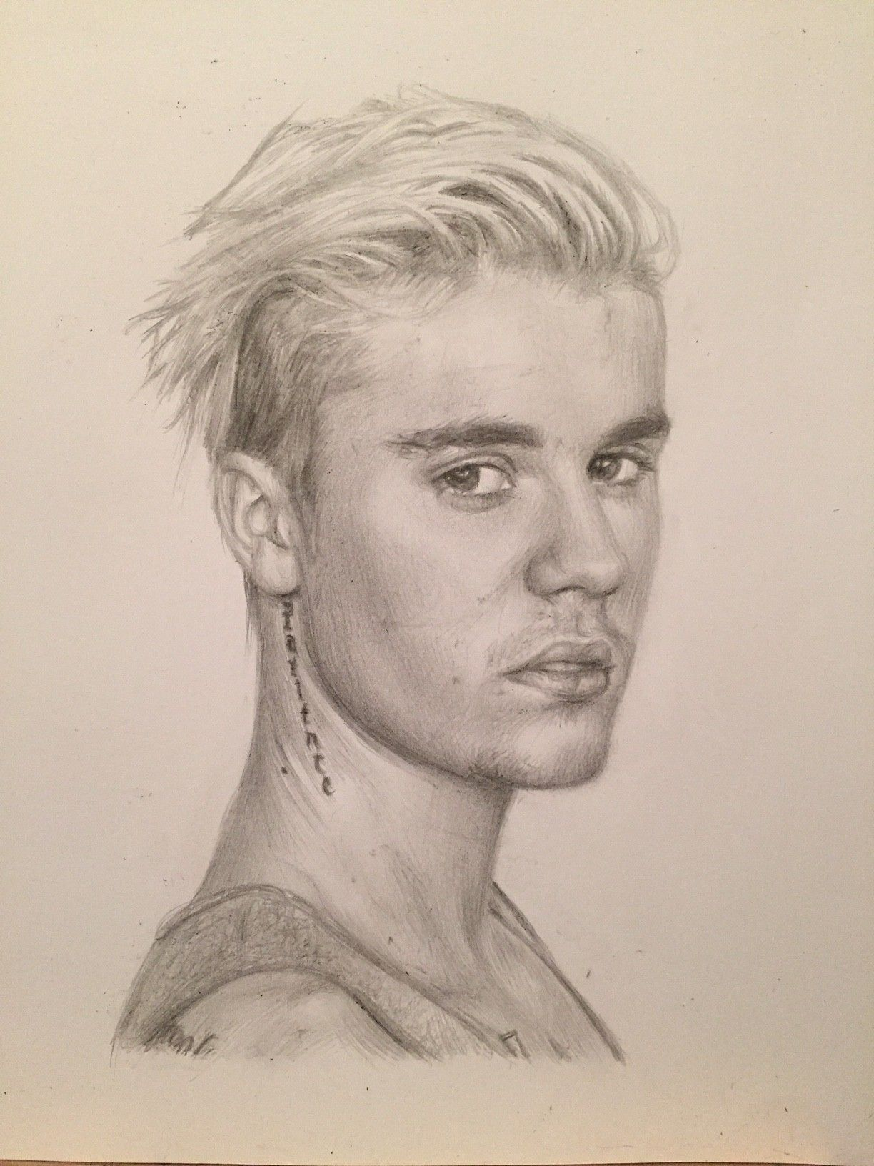 Coloring pages of justin bieber - Justin Bieber Drawing By Charlotte Oxenham