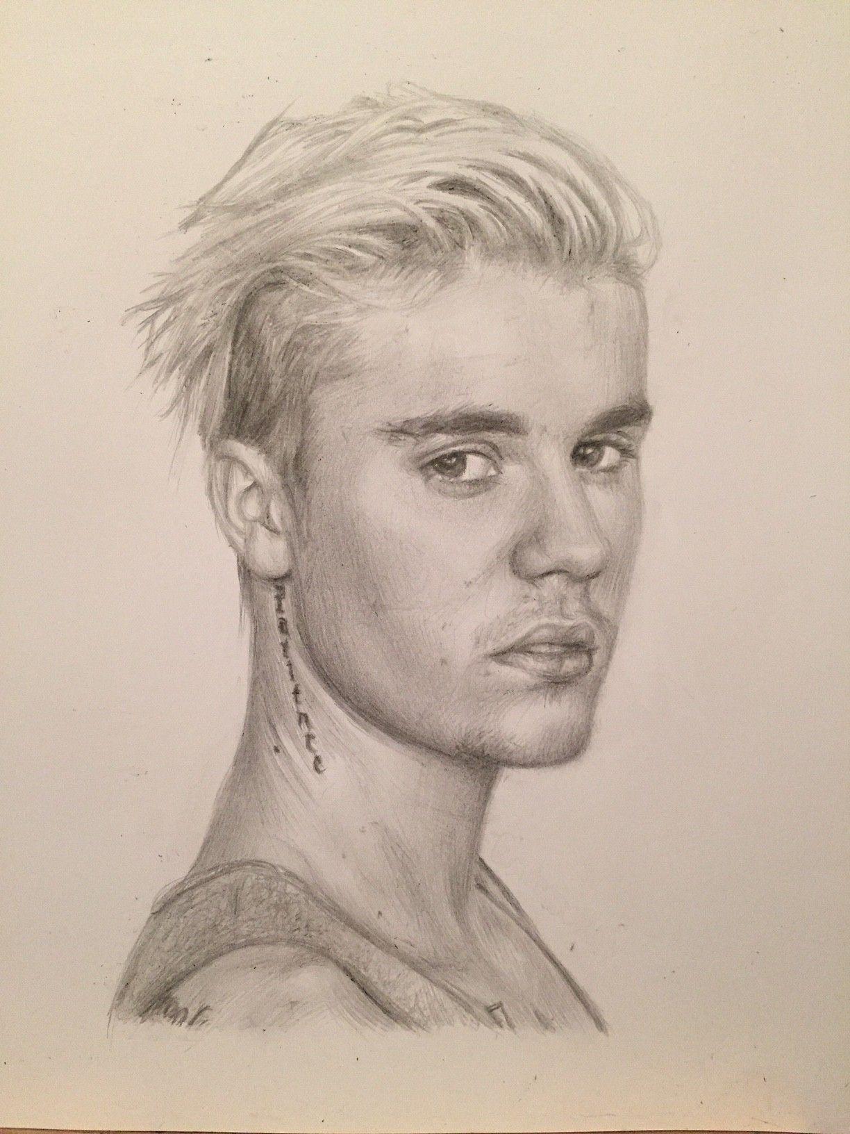 Justin Bieber Drawing By Charlotte Oxenham | Art By Charlotte U2661 In 2019 | Zeichnungen Zeichnen ...