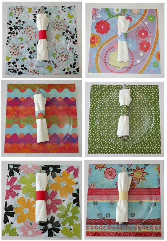Diy Placemats Using Paper Diy Place Settings Diy Paper