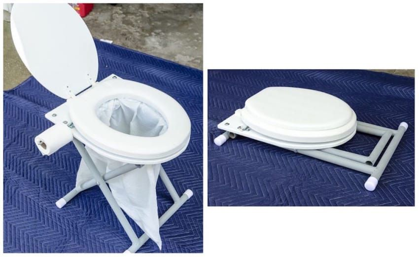 Photo of Bolt An Old Toilet Seat To A Piece Of Plywood To Transform It Into A Portable Potty