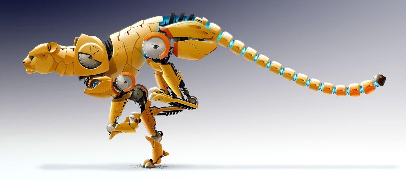 Robot Big Cats Anime