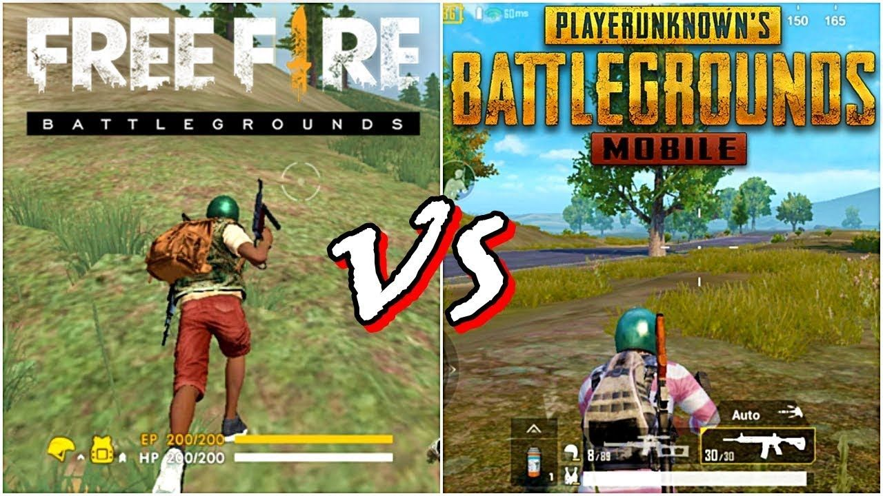 Free Fire VS PUBG Mobile Game Comparisonapkgame