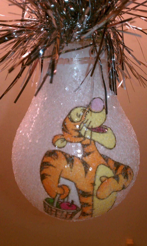 Tigger keepsake lightbulb | Baubles, Ornies | Pinterest | Tigger ... for Painted Light Bulb Art  103wja
