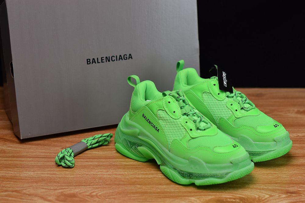 Clear Sole Trainer Sneaker Neon Green