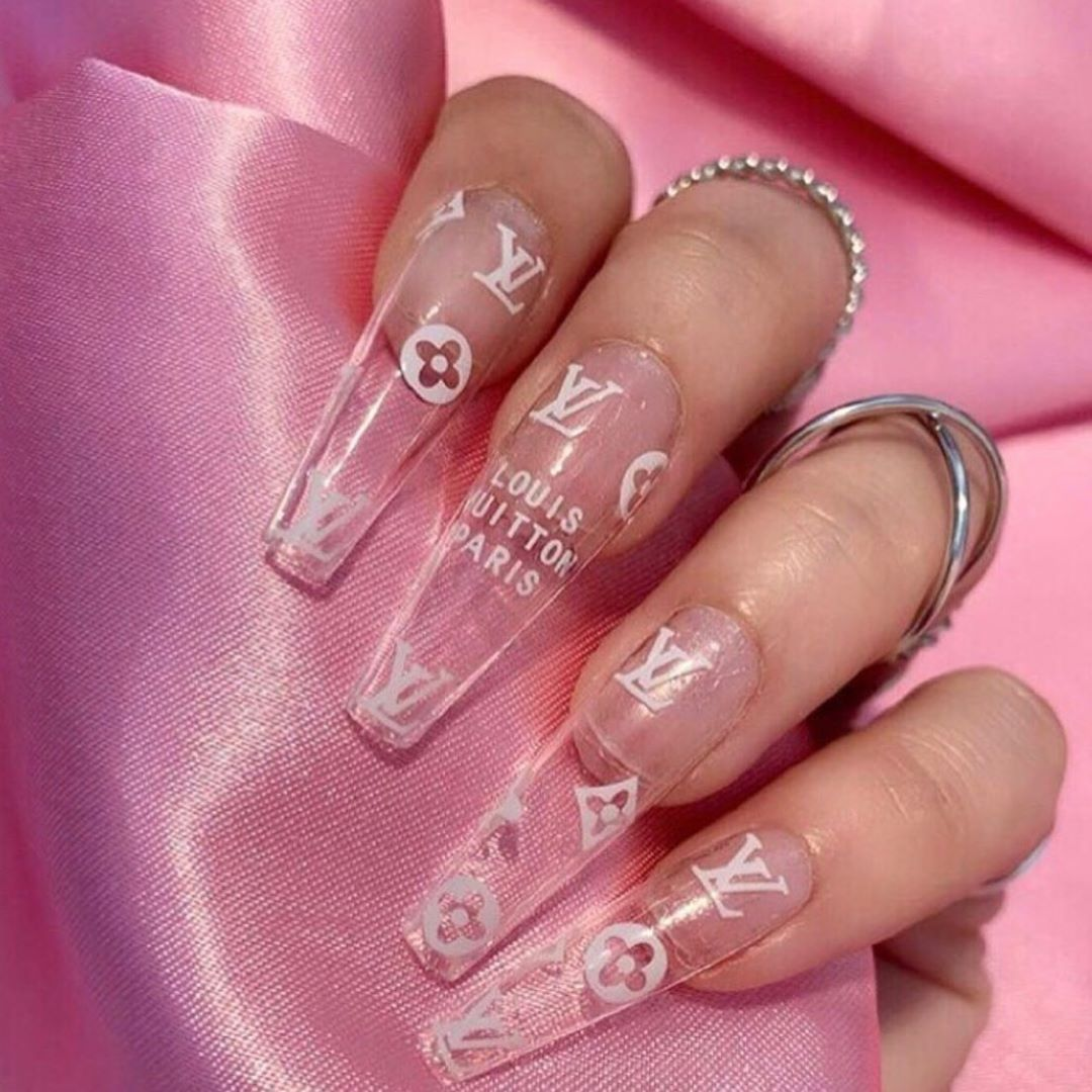 Lv Nails Louis Vuitton Pink Lv Nails In 2020 Louis Vuitton Nails Louis Vuitton Pink Louis Vuitton Tattoo