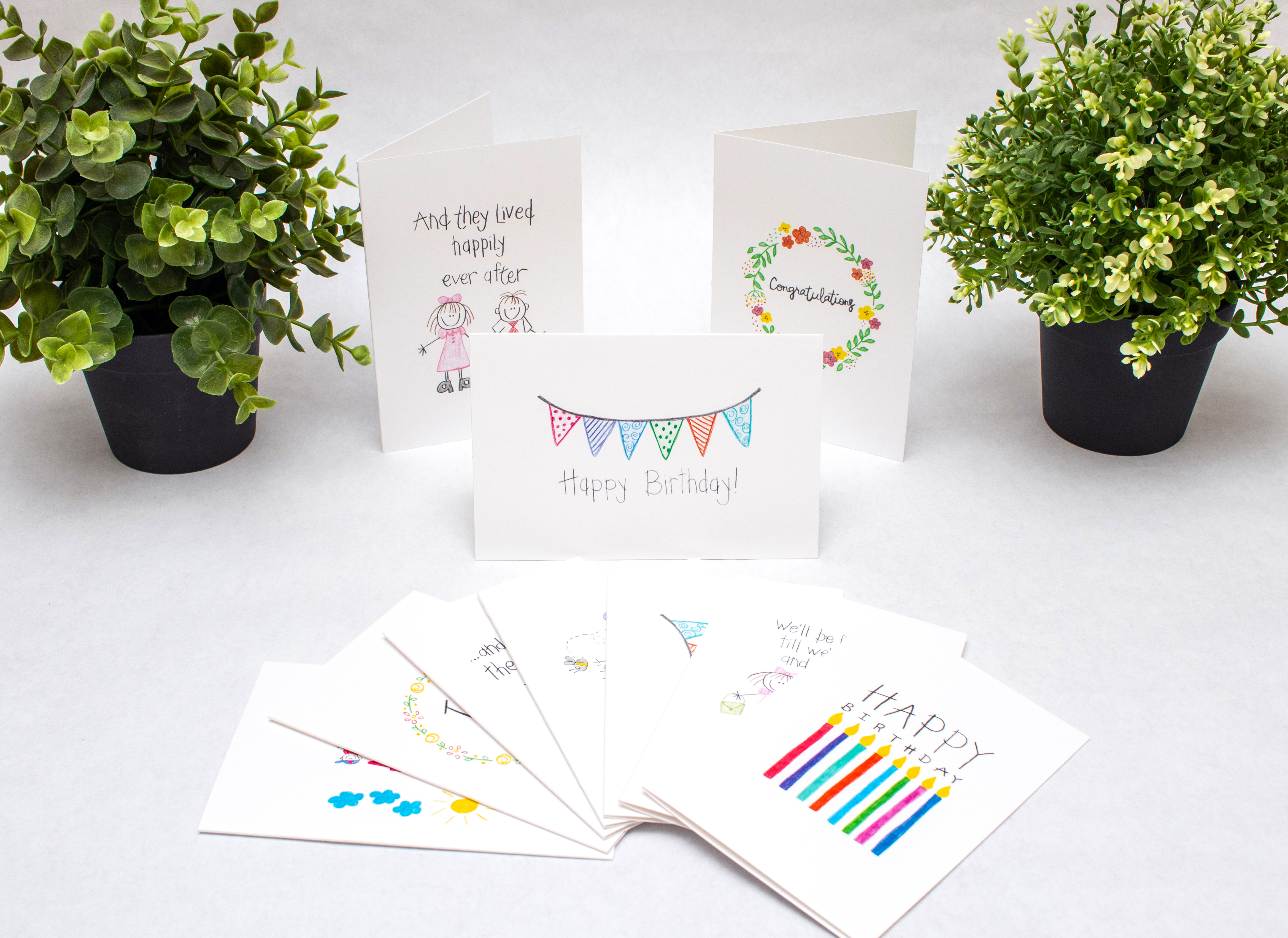 Variety Pack Of Greeting Cards Birthday Cards Wedding Love Etsy Birthday Cards Birthday Greeting Cards Printable Cards