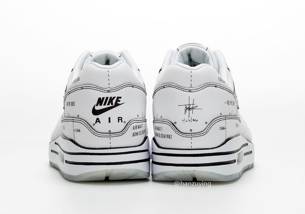 Nike Air Max 1 Schematic Not For Resale CJ4286 100 Release