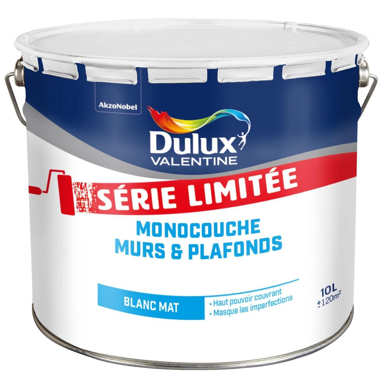 Peinture Blanche Mur Et Plafond Dulux Valentine Mat 10 L