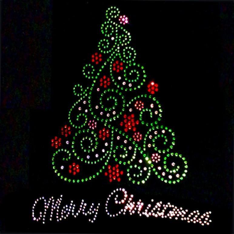 Merry Christmas Green Swirl Tree Rhinestones Christmas Tree Painting Christmas Mandala Diy Christmas Ornaments