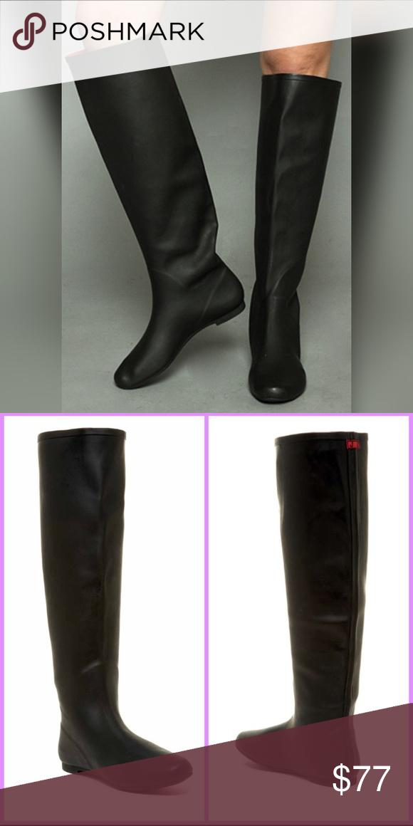fcbe05744fd NEW JEFFREY CAMPBELL Marsha Black Knee Rain Boots New in Box Jeffrey  Campbell – Marsha Over