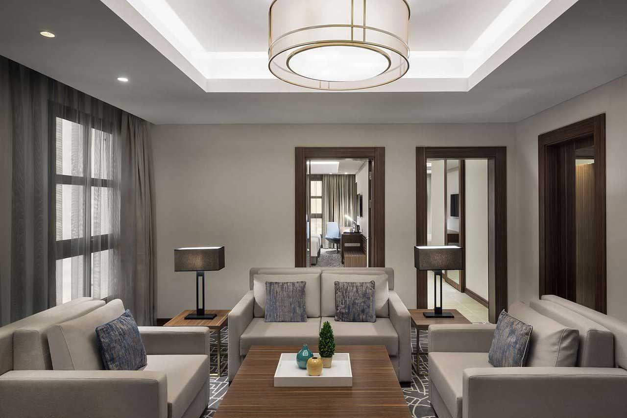 جناح غرفتين وصالة Home Decor Home Furniture