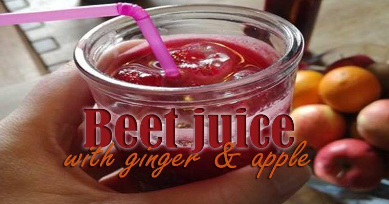 Beet juice with ginger apple resep dengan gambar