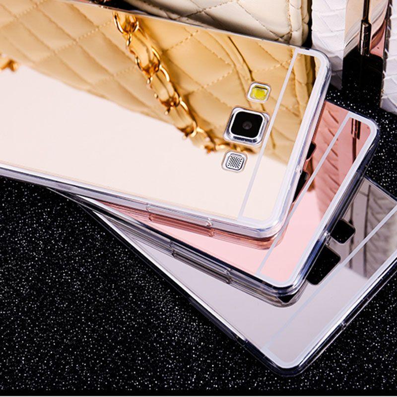 Cover A Specchio.Specchio Di Placcatura Caso Molle Di Tpu Posteriore Case