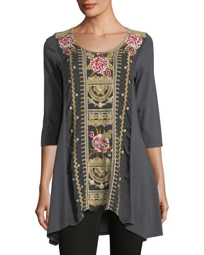 1820d26a885 JOHNNY WAS LEITH EMBROIDERED PANEL TUNIC, PLUS SIZE. #johnnywas #cloth #