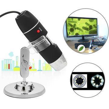 1000X 8 LED USB2.0 Digital Microscope Endoscope Biological