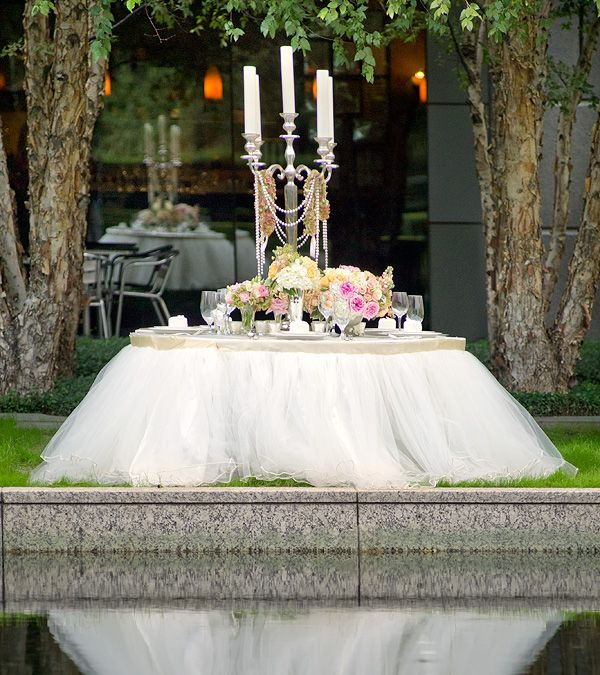Really Loving The Look Of Tulle Table Skirts