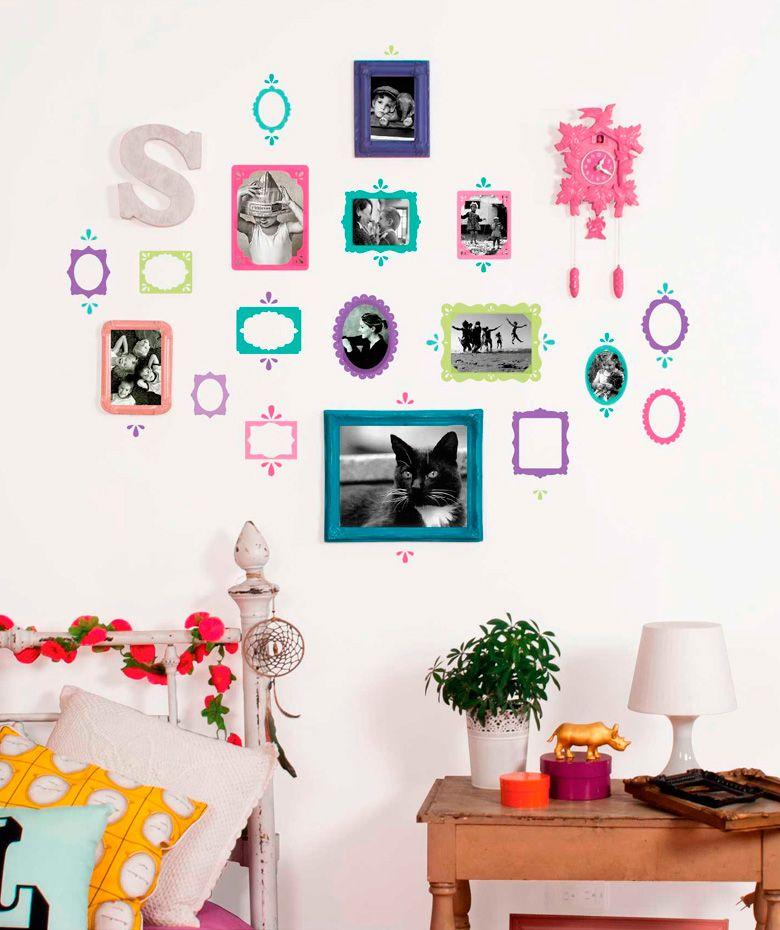 Eco portaretratos teens vinilo adhesivo decoraci n de paredes cop encuentra m s - Decoracion paredes vinilos adhesivos ...